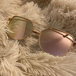 Rose Gold Sunglasses with UV Protection